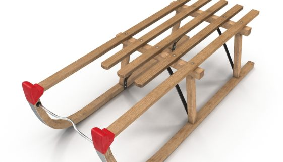 Davoser Holzschlitten: Foto: FS-Stock/Bigstock